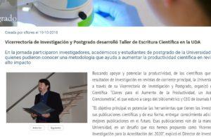 postgraduate research scientific writing workshop
